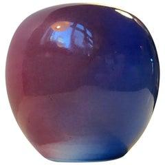 Ceramic Rainbow Glaze Ball Vase by Aage Würtz, 1970s