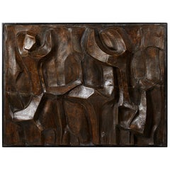 "Ceramic Relief ""Figures"" by Pipin Henderson Denmark, 1990s"