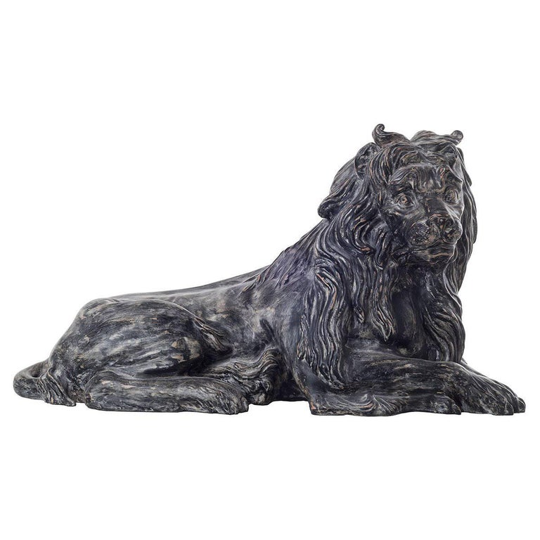 Ceramic Reproduction of Lying Down Lion