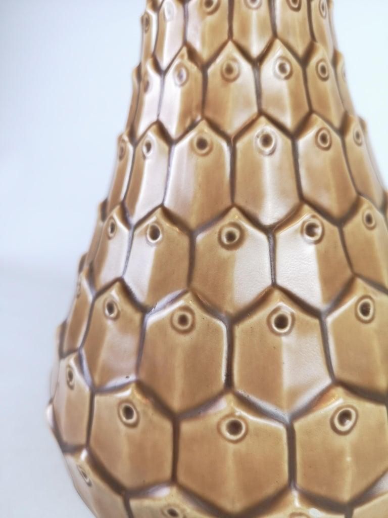 Mid-20th Century Ceramic Reptile Vase Bofajans Ewald Dahlskog, Sweden, 1940s For Sale