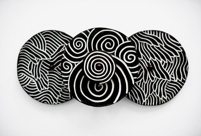 American Ceramic Sconces by Jennifer Nocon, Untitled For Sale