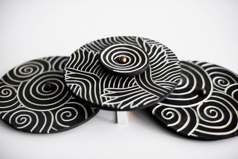 Contemporary Ceramic Sconces by Jennifer Nocon, Untitled For Sale