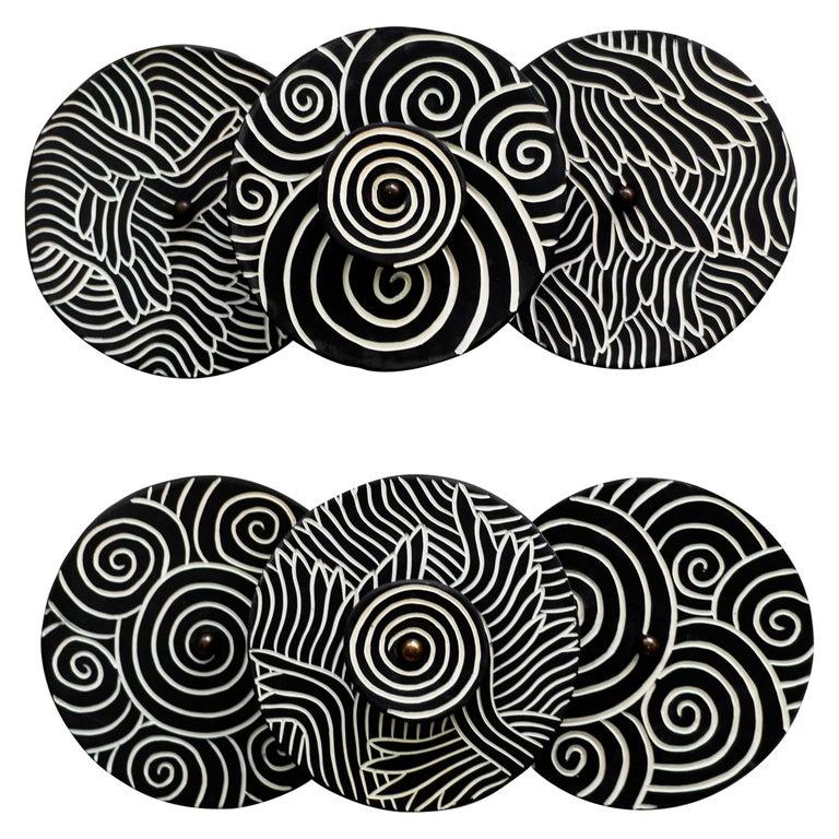Ceramic Sconces by Jennifer Nocon, Untitled For Sale
