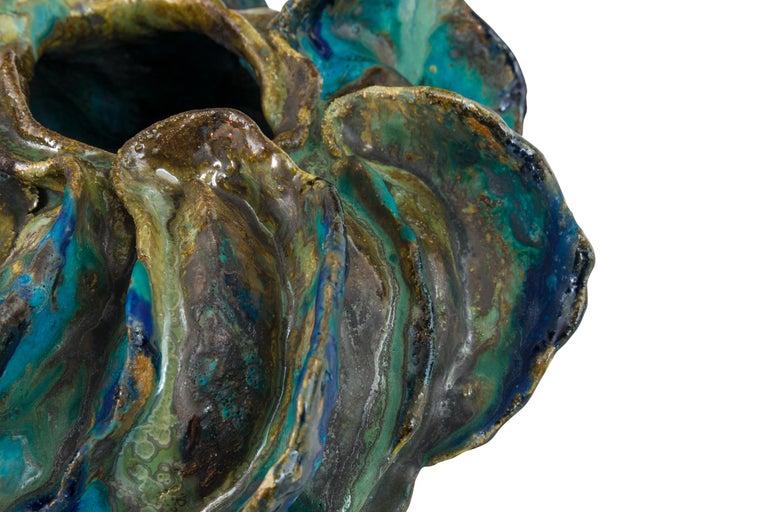 Ceramic Sculptural Vase by Henrik Folsgaard, Denmark, 2020 In Good Condition For Sale In New York, NY
