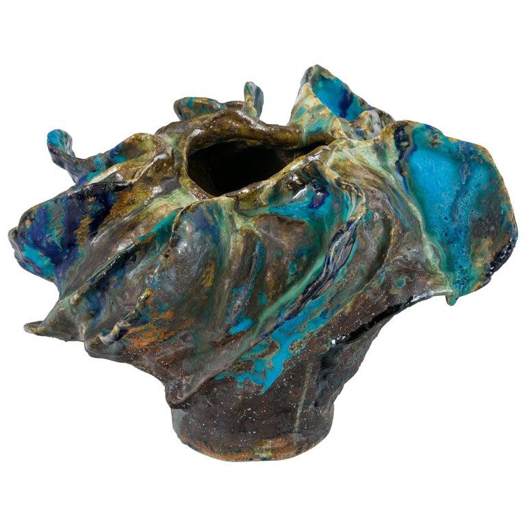 Ceramic Sculptural Vase by Henrik Folsgaard, Denmark, 2020 For Sale