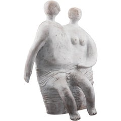 Ceramic Sculpture by Cloutiers Frères, circa 1990