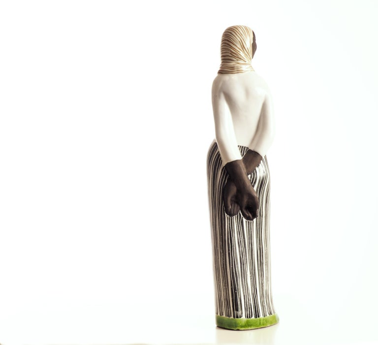 Ceramic Sculpture by Mari Simmulson for Upsala-Ekeby, Sweden  In Excellent Condition For Sale In Goteborg, SE