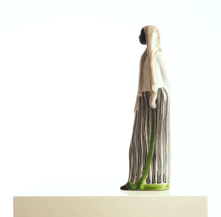 Mid-20th Century Ceramic Sculpture by Mari Simmulson for Upsala-Ekeby, Sweden  For Sale