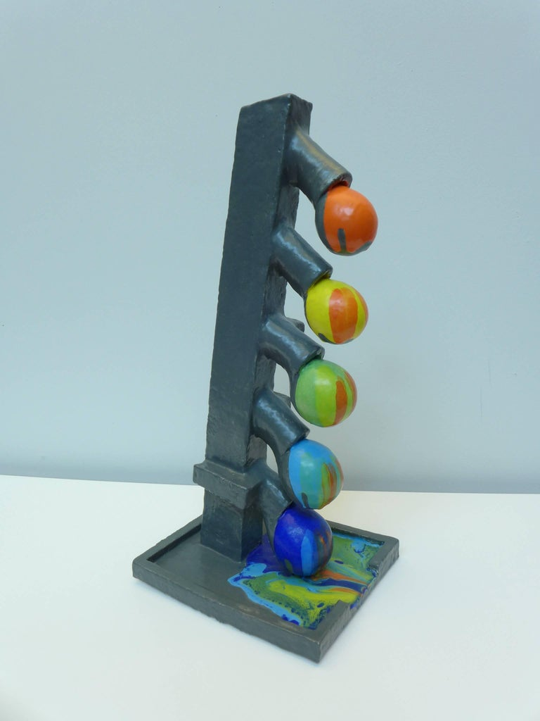 Ceramic Color Flow Sculpture by Mark Hosking In Excellent Condition For Sale In Amsterdam, NL