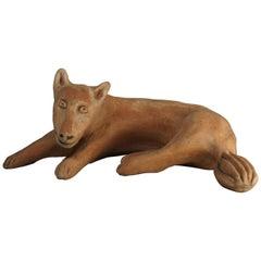 Ceramic Sculpture Fox Model by Nathalie Du Pasquier for Alessio Sarri Editions