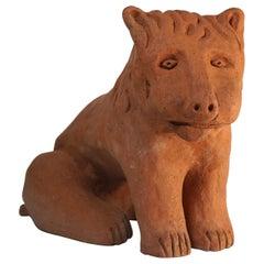 Ceramic Sculpture Lion Model by Nathalie Du Pasquier for Alessio Sarri Editions