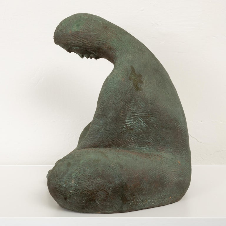 American Ceramic Sculpture of Sitting Woman For Sale