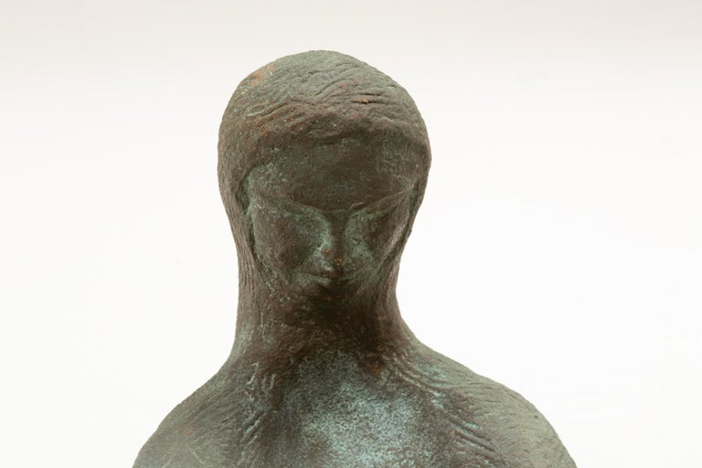 Ceramic Sculpture of Sitting Woman For Sale 1