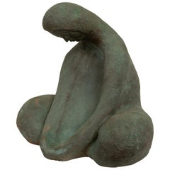 Ceramic Sculpture of Sitting Woman