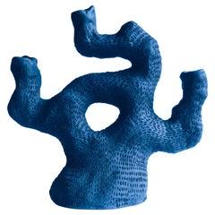 """Ceramic Sea Candelabra Cobalt """"Three Arms One Leg"""" by Jan Ernst de Wet"""