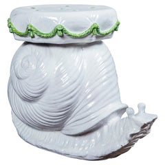 Ceramic Snail Garden Seat, Italy