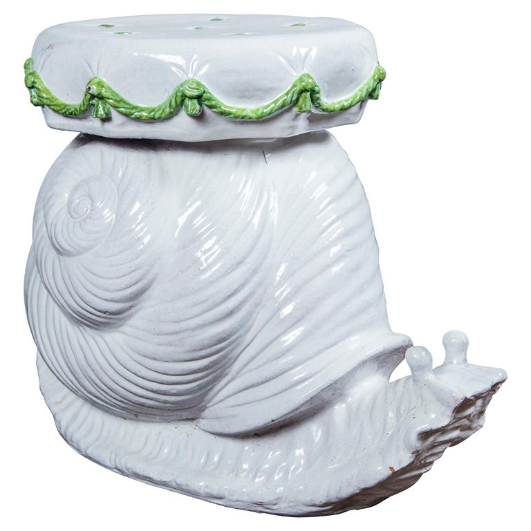 Ceramic Snail Garden Seat, Italy For Sale