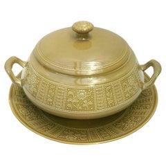 """Ceramic Soup Bowl Tureen """"Margherita"""" by Antonia Campi for Richard Ginori, 1965"""