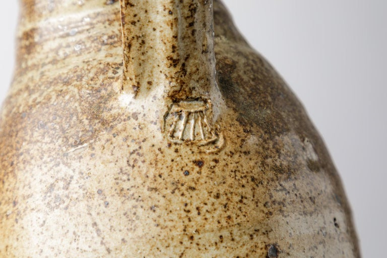 Late 20th Century Ceramic Stoneware Pitcher by Pierre Digan, 1970 Realised in La Borne For Sale