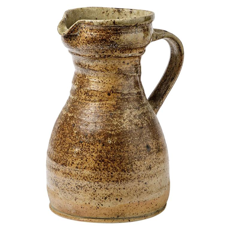 Ceramic Stoneware Pitcher by Pierre Digan, 1970 Realised in La Borne For Sale