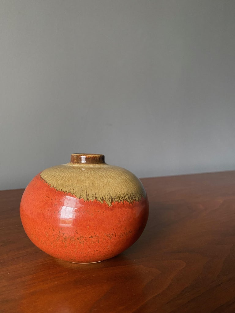 Small studio crafted ceramic vase. Beautiful colors and glazing.