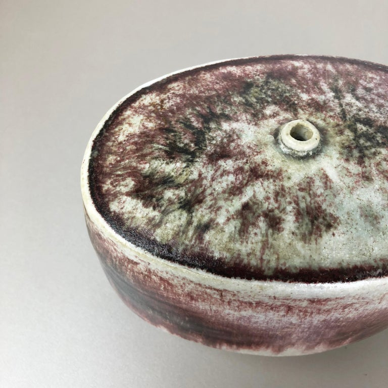 Ceramic Studio Pottery Vase by Bruno and Ingeborg Asshoff, Germany, 1960s For Sale 1
