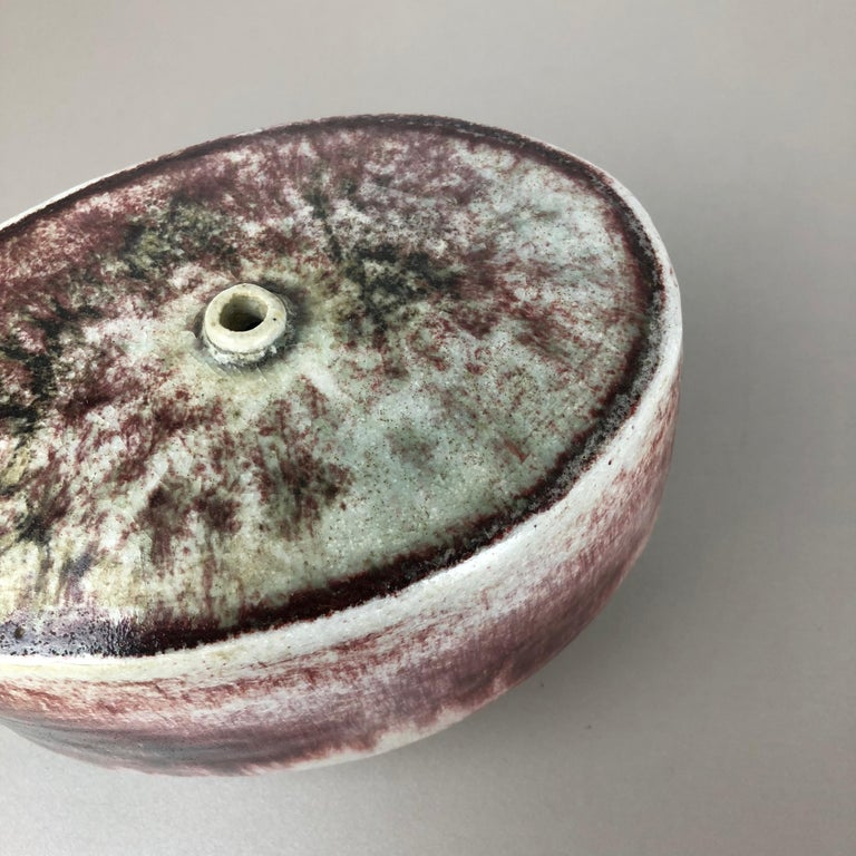 Ceramic Studio Pottery Vase by Bruno and Ingeborg Asshoff, Germany, 1960s For Sale 2