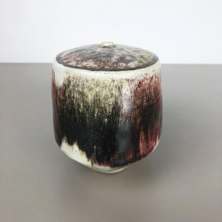 Ceramic Studio Pottery Vase by Bruno and Ingeborg Asshoff, Germany, 1960s For Sale 4