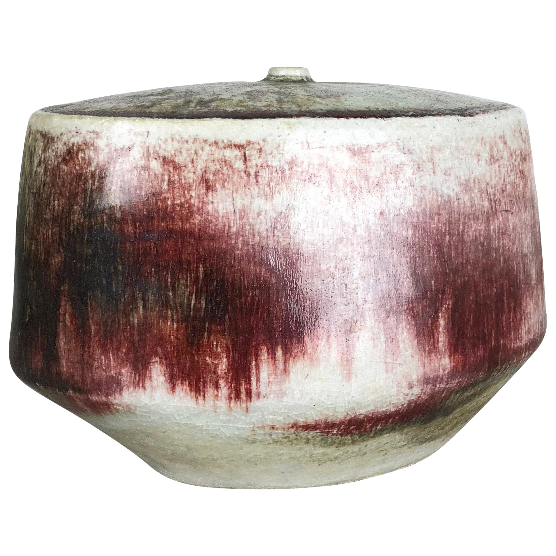 Ceramic Studio Pottery Vase by Bruno and Ingeborg Asshoff, Germany, 1960s