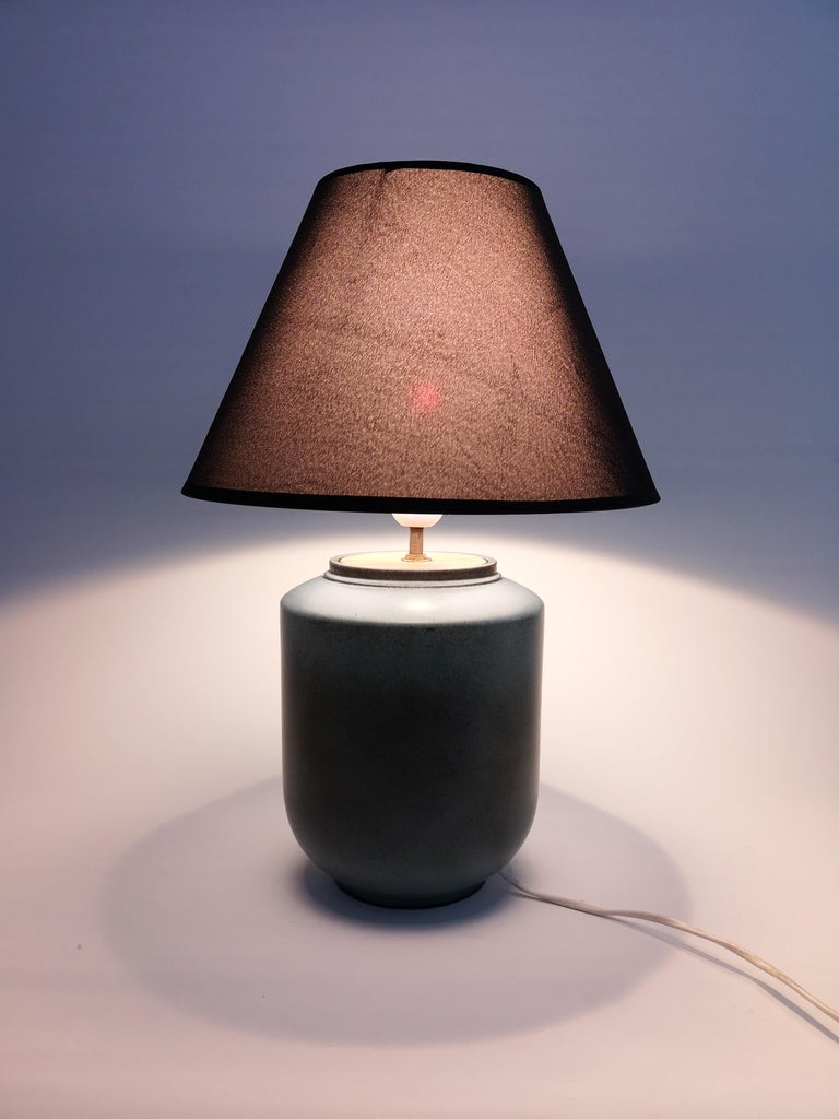 Ceramic Swedish Midcentury Table Lamp by Gunnar Nylund Rörstrand In Good Condition For Sale In Langserud, SE