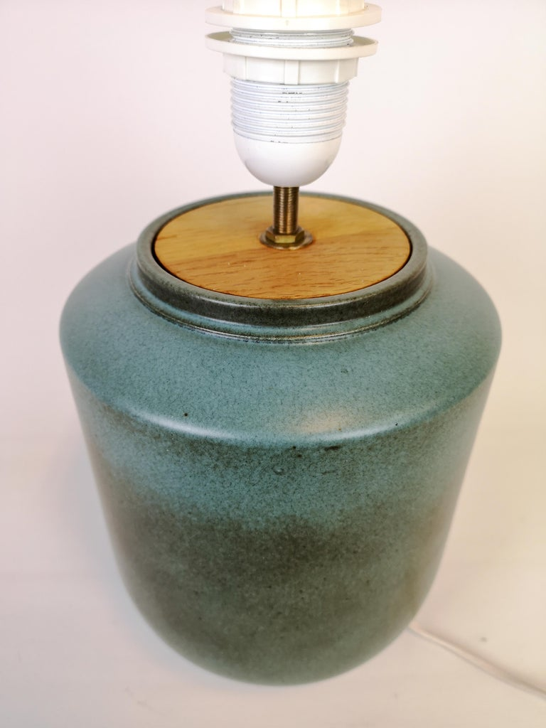 Ceramic Swedish Midcentury Table Lamp by Gunnar Nylund Rörstrand For Sale 3