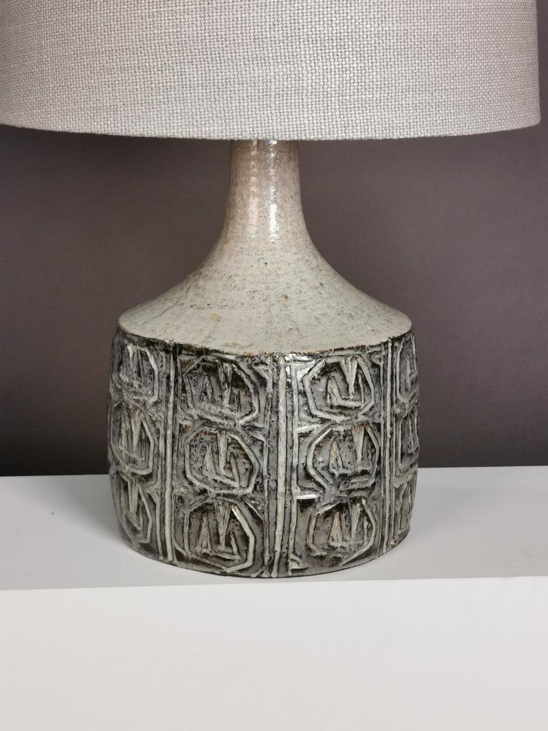 Danish Ceramic Table Lamp by Jette Hellerøe, Denmark, 1964 For Sale