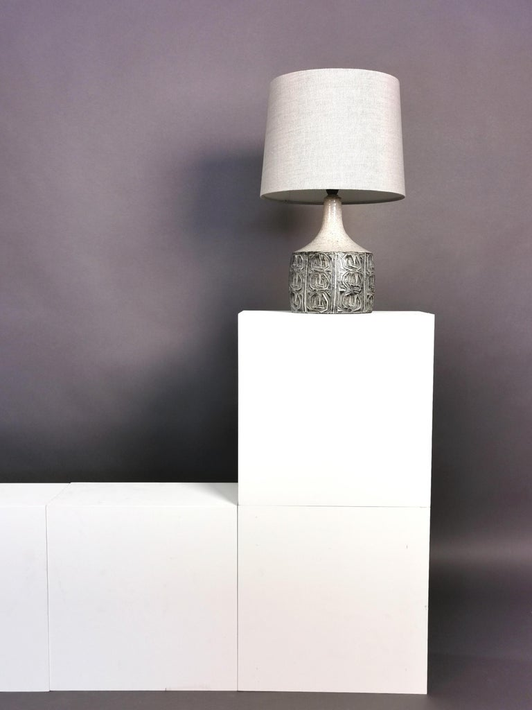 Glazed Ceramic Table Lamp by Jette Hellerøe, Denmark, 1964 For Sale