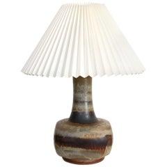 Ceramic Table Lamp by Jette Hellerøe for Stentøj, Denmark, 1960