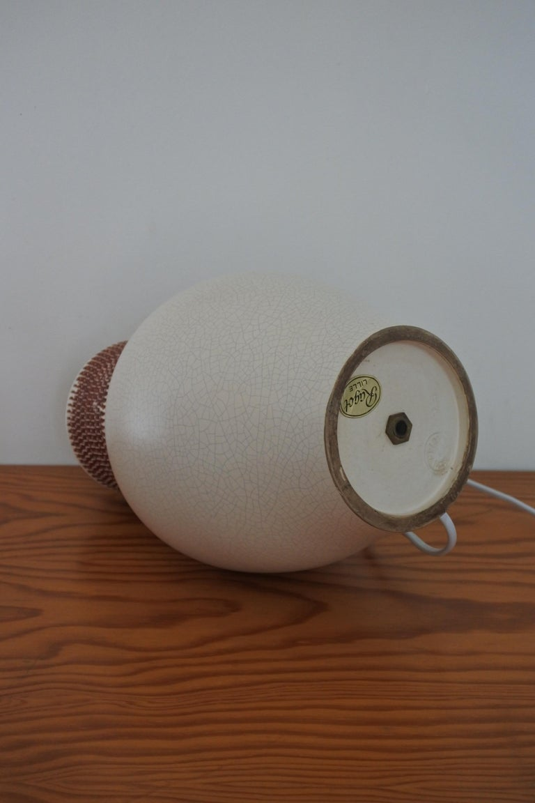 Ceramic Table Lamp by Pol Chambost, France 1940s For Sale 5