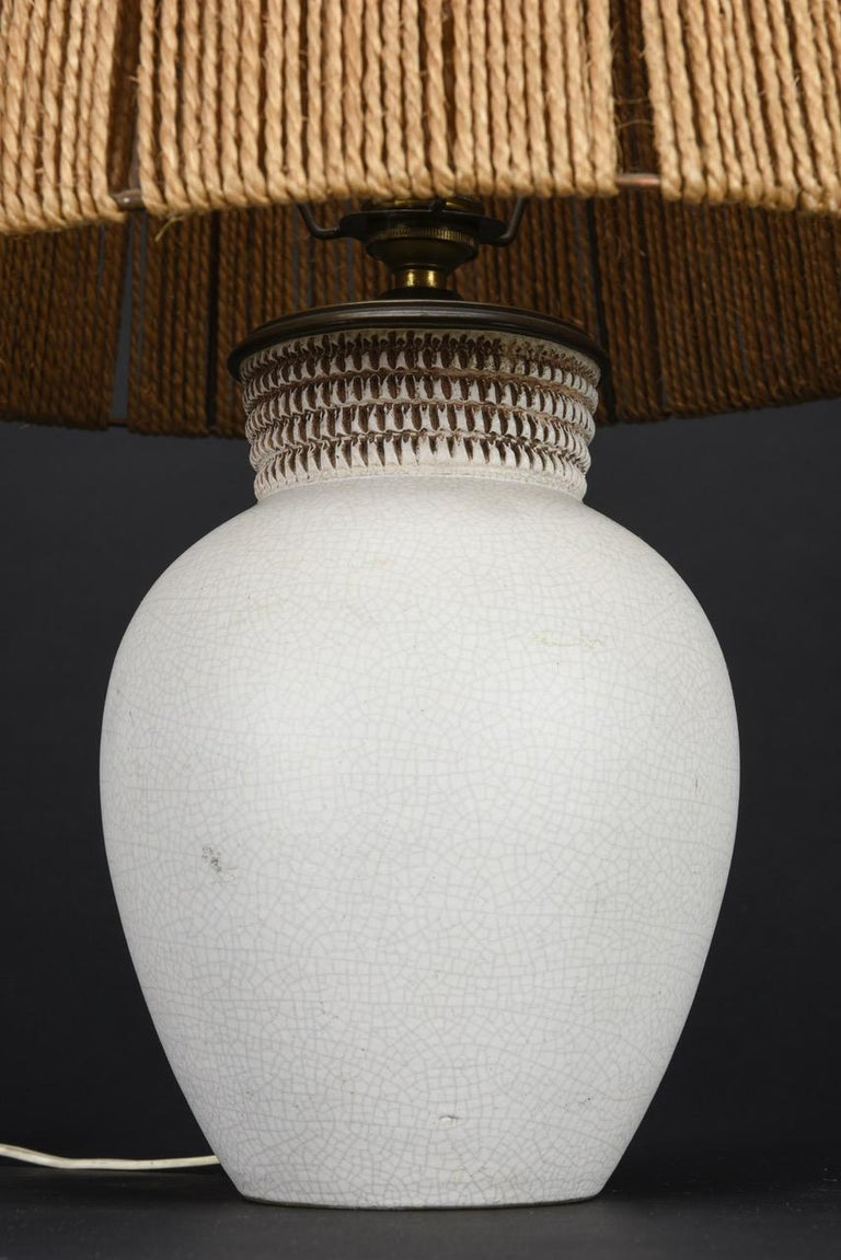 French Ceramic Table Lamp by Pol Chambost, France, 1940s For Sale