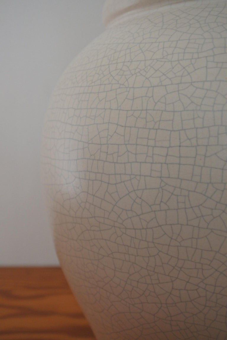 Ceramic Table Lamp by Pol Chambost, France 1940s In Excellent Condition For Sale In La Teste De Buch, FR