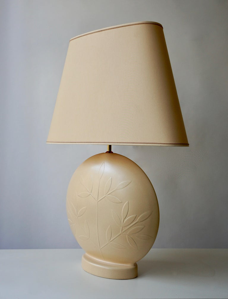 Hollywood Regency Louis Drimmer Ceramic Table Lamp  For Sale