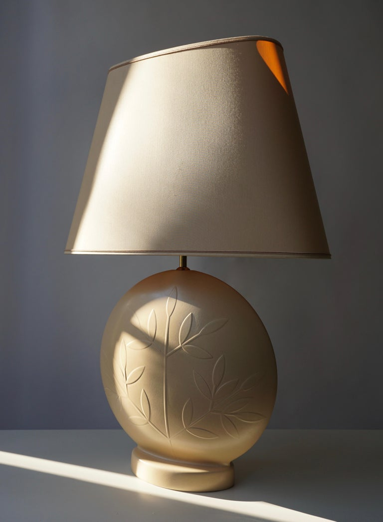 French Louis Drimmer Ceramic Table Lamp  For Sale