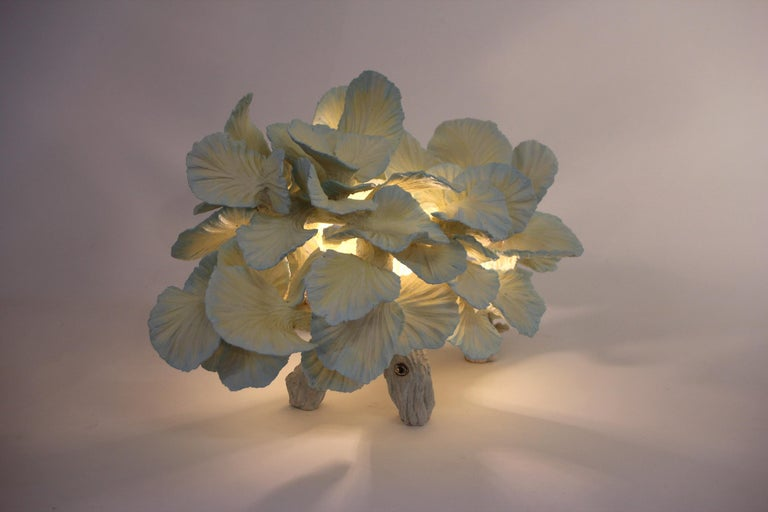 Contemporary Ceramic Table Lamp, Matt Painted, Made to Order by Designer Teemu Salonen For Sale