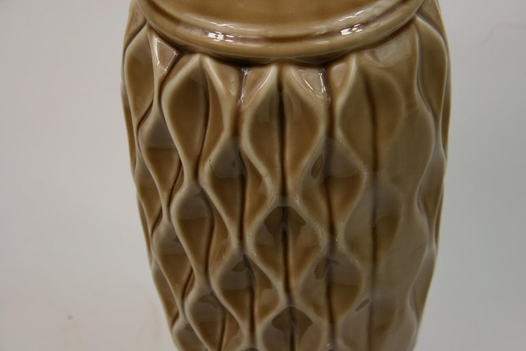 Ceramic Table Lamp with Geometric Detailing, 1970s For Sale 3