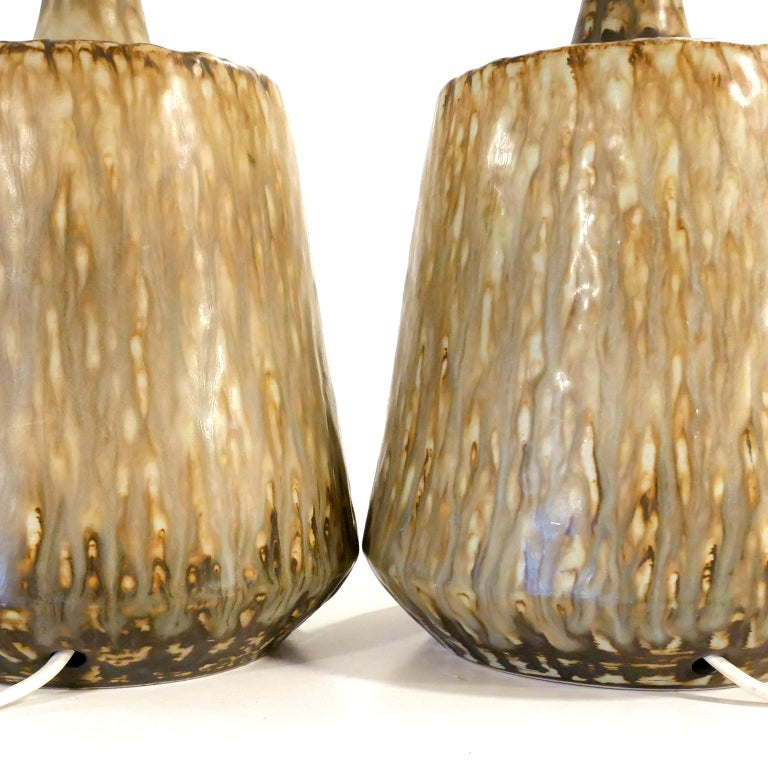Swedish Ceramic Table Lamps by Gunnar Nylund for Rörstrand, Sweden, 1960s For Sale