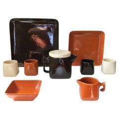 Ceramic Tea Service by Nanna Ditzel for Søholm, 1970s