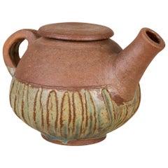 Ceramic Teapot with Glazed Base