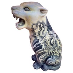 Ceramic Tiger by Luca Mamone, 2010s