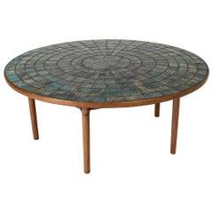 Ceramic Tile and Teak Occasional or Coffee Table by Bjørn Wiinblad, Denmark