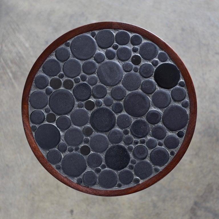 Ceramic tile top occasional table by Gordon Martz.