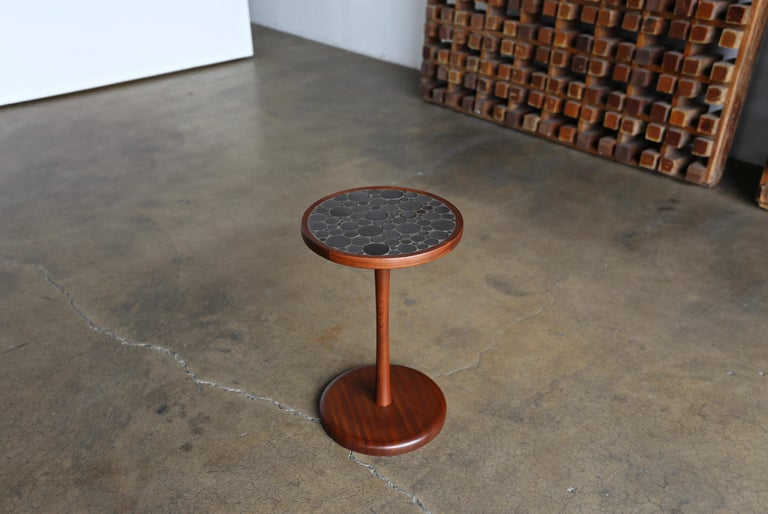 Mid-Century Modern Ceramic Tile Top Occasional Table by Gordon Martz For Sale