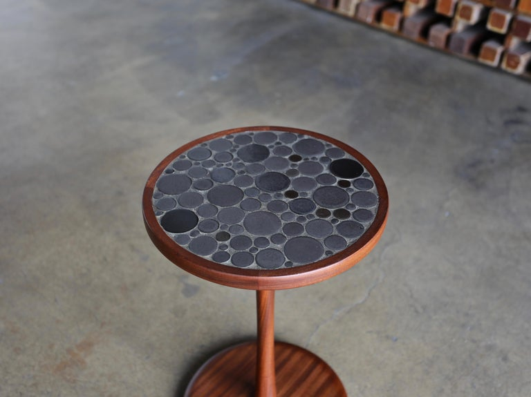 American Ceramic Tile Top Occasional Table by Gordon Martz For Sale