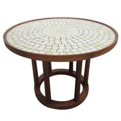 Ceramic Tile-Top Table by Gordon Martz